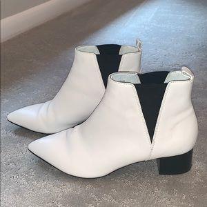 Nine West White Booties